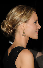 KaDee Strickland sported a chic updo at the 'InStyle' soiree in Hollywood. She wore her blond tresses in a pinned and wavy updo.