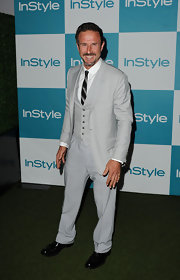 David Arquette looked dapper at the 'InStyle' Summer Soiree in a dove gray three piece suit and skinny tie.