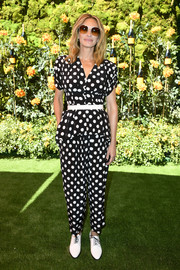 Julia Roberts went matchy-matchy with these separates, consisting of polka-dot pants and a peplum top.