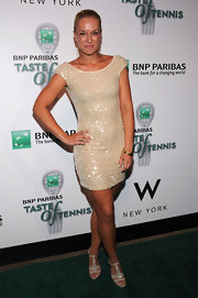 Sabine Lisicki's mini dress lit up the night with it's sparkle and shine.