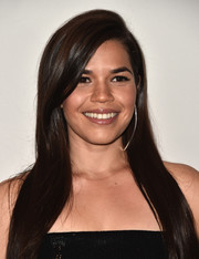 America Ferrera was elegantly coiffed with this sleek side-parted hairstyle for the Global Women's Rights Awards.