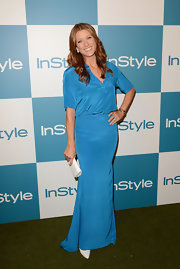 Kate Walsh may have been wearing a long dress, but the rich blue color and blousy shirt design made it right on point for the festivities.