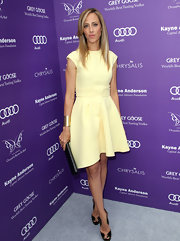 Kim Raver chose a pale yellow frock for her look at the Chrysalis Butterfly Ball in LA.