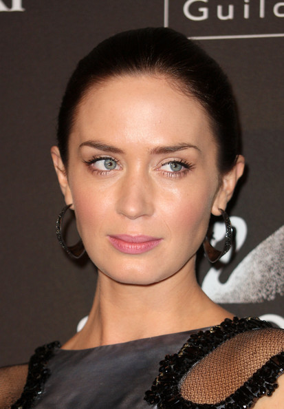 More Pics of Emily Blunt Gemstone Hoops (1 of 35) - Emily Blunt Lookbook - StyleBistro