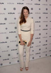 Analeigh look classic in cream when she wore this solid-colored jumpsuit to InStyle's Summer Soiree.