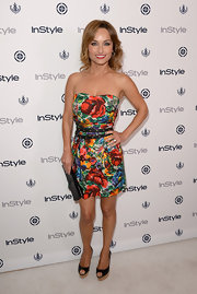 Giada opted for big and bold florals for InStyle's Summer Soiree in West Hollywood.
