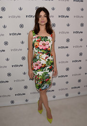 Crystal caught our attention with bold graphic florals at InStyle Summer Soiree.