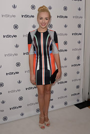 Peyton got playful with her printed dress, which she wore to InStyle's Summer Soiree.