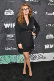Connie Britton was business-chic in a black skirt suit at the Women in Film Oscar nominees party.