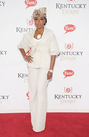 Tichina Arnold looked seriously stylish in her white pantsuit at the Kentucky Derby.