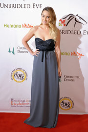 Lauren Conrad looked sultry and sophisticated at the Unbridled Eve Gala in a strapless gown with a corset bodice.