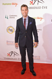 Lance Bass paired a stylish black suit with a patterned button-down for the Kentucky Derby Unbridled Eve Gala.