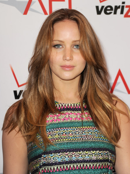More Pics of Jennifer Lawrence Long Wavy Cut (3 of 8) - Long Wavy Cut Lookbook - StyleBistro