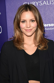 Katharine McPhee sported soft, face-framing layers at the Chrysalis Butterfly Ball.