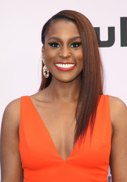 Issa Rae looked stylish with her half-pinned layered cut at the 2020 Essence Black Women in Hollywood Awards.