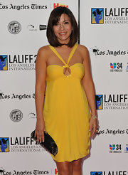 Marisol showed off her chic bob and blunt cut bangs while attending the Latino Film Festival.