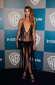 Erin Wasson was not afraid to show some serious skin at the Golden Globe's After Party.
