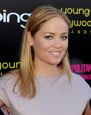 Erika Christensen opted for a simple look for the Young Hollywood Awards. The actress styled her hair in a sleek center part hairstyle.