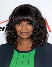 Octavia Spencer styled her hair with high-volume waves and choppy bangs for the AFI Awards.
