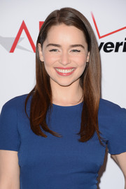 Emilia Clarke wore a super-neat side-parted 'do when she attended the AFI Awards.