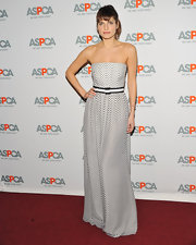 Lake looked lovely in a strapless polka-dot structured dress at the ASPCA Ball.