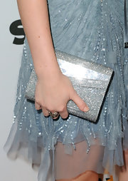 Leighton completed her heavenly powder blue Elie Saab dress with a shimmering Candy Acrylic box clutch.