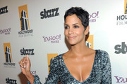 Halle Berry Wears a Sequined Mini Dress