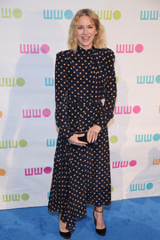 Naomi Watts was classic in a polka-dot dress by Alessandra Rich at the Worldwide Orphans Gala.