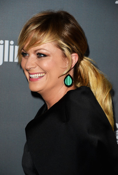 More Pics of Amy Poehler Ponytail (1 of 18) - Ponytail Lookbook - StyleBistro