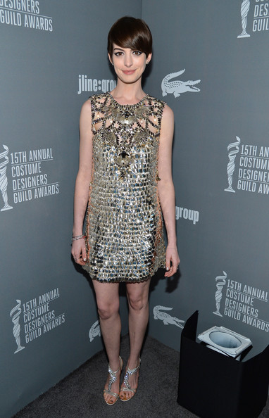 More Pics of Anne Hathaway Short Cut With Bangs (8 of 25) - Anne Hathaway Lookbook - StyleBistro