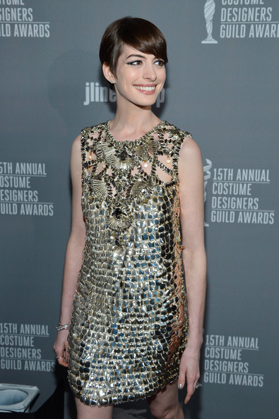 More Pics of Anne Hathaway Short Cut With Bangs (5 of 25) - Anne Hathaway Lookbook - StyleBistro