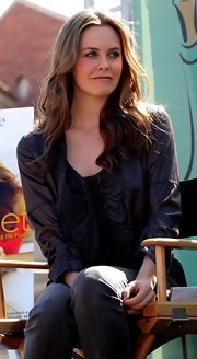 Actress Alicia Silverstone showed off her long curls while attending an LA Times Festival.