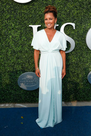 Vanessa Williams looked simply divine in a draped mint evening dress at the USTA opening night gala.