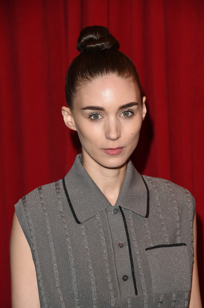 Rooney Mara looked chic with a top knot bun at the AFI Awards.