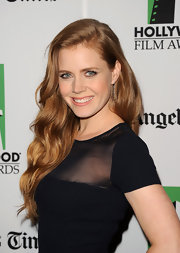 Amy Adams paired dangling diamond earrings with her sleek gown for a fully streamlined look.