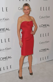 """These amazing """"Bianca"""" pumps perfectly compliments Renee's little red dress."""