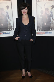 Delphine Chaneac wore a pair of slacks at the 16th Ceremonie Des Lumieres.