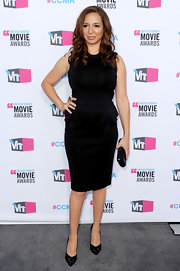 Maya Rudolph topped off her ladylike look with black stilettos.