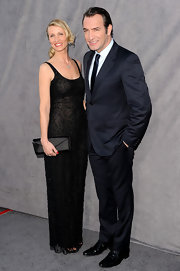 This sheer black beaded sheath gown was completely gorgeous on Alexandra Lamy.