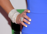 Layers of diamond bangles provided an ultra-glam finish to Nancy O'Dell's look during the Hollywood Film Awards.