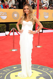 Giuliana layered her wrist with sparkling bracelets for the SAG Awards.