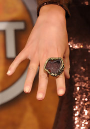 Paz de la Huerta showed off her massive amber ring at the Screen Actors Guild Awards.