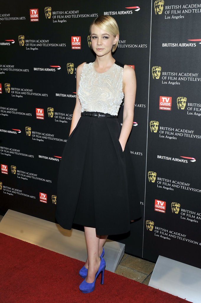 Carey Mulligan poses for a picture at the 18th Annual BAFTA Britannia Awards held at the Hyatt Regency Century Plaza Hotel on November 4, 2010 in Los Angeles, California.
