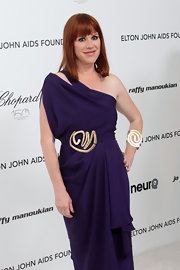 Molly Ringwald accessorized with a huge abstract cuff bracelet at the Academy Awards.