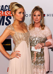 Kathy Hilton sparkled at the Race to Erase MS gala, from her dress to her jewels to her metallic clutch.