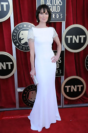 Lena Headey wore a white mermaid gown on the SAG red carpet.