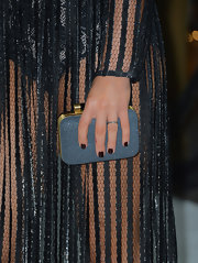 Lea Michele hit fall 2012's color trend right on the, uh, nail with this brooding oxblood manicure.