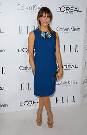 We loved Rashida's refined look in this crisp blue sheath dress at the Women in Hollywood Celebration.