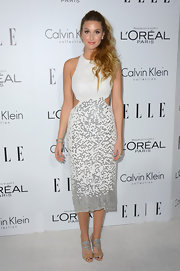 What's not to love about Whitney Port's white scaly mermaid dress?