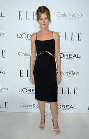 Robbie's LBD had subtle cutouts and dainty straps.